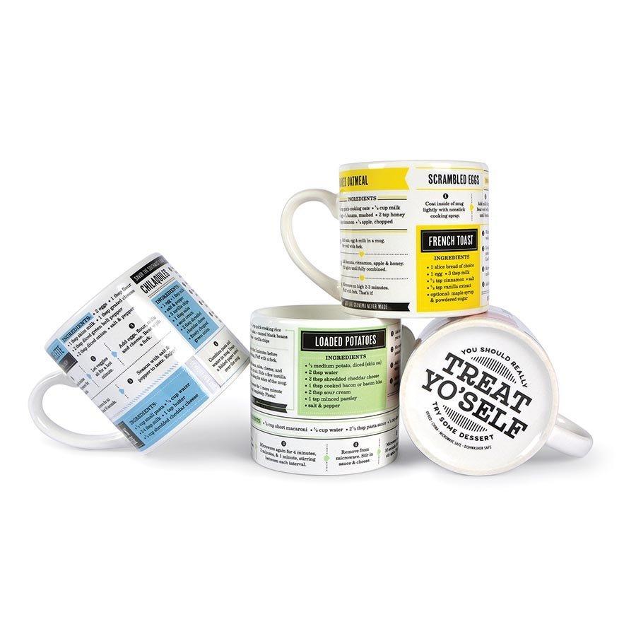 Fred Grub Mugs - Set Of 4 Recipe Mugs image