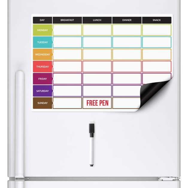 Magnetic Meal Planner (A3)