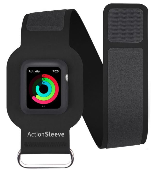 Twelve South ActionSleeve for Apple Watch 42mm - Long (Black)