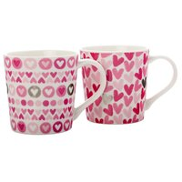 Maxwell & Williams Heart Mugs - Set of 2 (400ml)