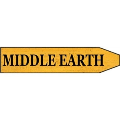 St Plaque Middle Earth Embossed Metal