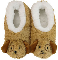 Slumbies Puppy Furry Foot Pals Slippers (L)