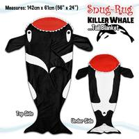 Snug-Rug Killer Whale Tail Blanket image