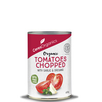 Ceres Organics Chopped Tomatoes with Garlic & Oregano 400g