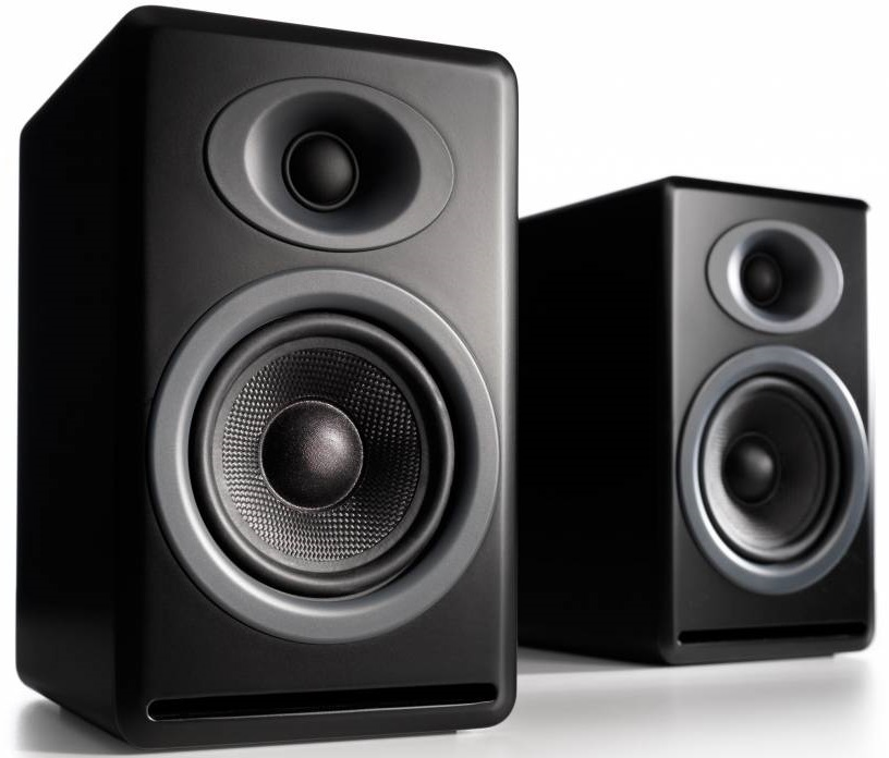 Audioengine P4 Passive Bookshelf Speakers (Pair) Satin Black image