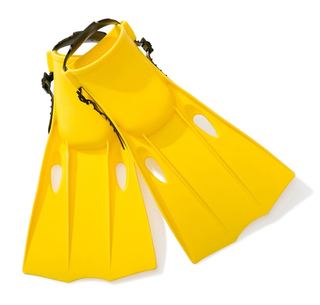 Intex: Swim Fins - Small (Yellow)