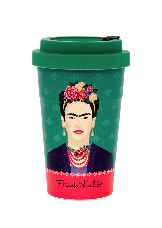 Frida Kahlo: Green Vogue Travel Mug