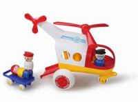 Viking Toys - Jumbo Ambulance Helicopter with 3 Figures & 1 Stretcher