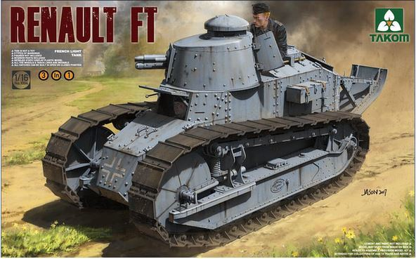 Takom 1/16 Renault FT-17 3in1 Model Kit image