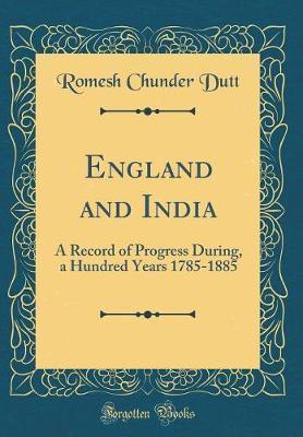England and India by Romesh Chunder Dutt image