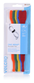 VELCRO Brand Hook & Loop Reusable Cable Ties 5 x 200mm Coloured