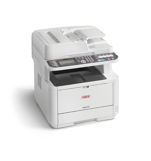 OKI MB472DNW 33ppm Mono LED Multi Function Printer