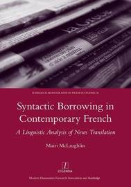Syntactic Borrowing in Contemporary French by Mairi Malaughlin image