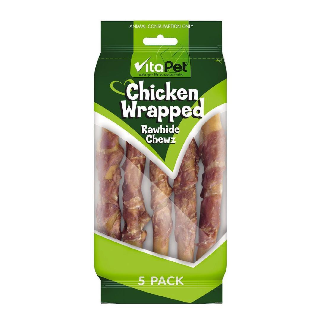 Vitapet: Chicken Wrapped Rawhide Twists (5 Pack) image