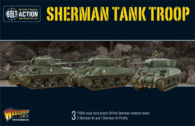 British Sherman V Tank Troop