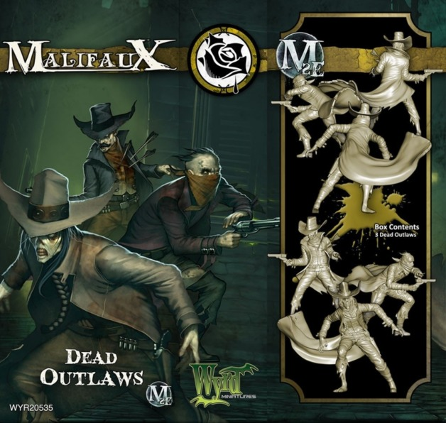 Malifaux: Outcasts - Dead Outlaws (3pc)