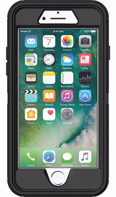 OtterBox Defender Case for iPhone 7/8 - Black