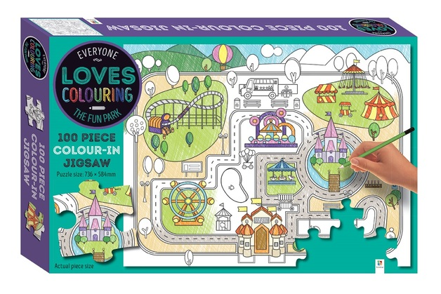 Everyone Loves Colouring: 100-Piece Jigsaw - The Fun Park