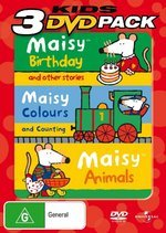 Maisy - Birthday / Colours And Counting / Animals - Kids 3 DVD Pack (3 Disc Set) on DVD