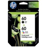 HP60 Black and Colour Ink Cartridges