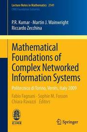 Mathematical Foundations of Complex Networked Information Systems by P.R. Kumar image