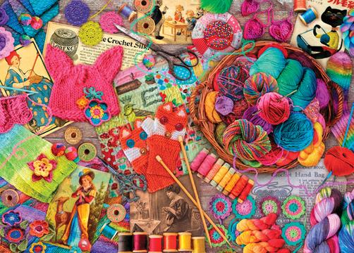 Holdson: 1000pce Puzzle - Treats 'n Treasures Vintage Yarns image