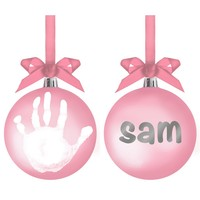 Pearhead: Babyprints Ball Ornament - Pink