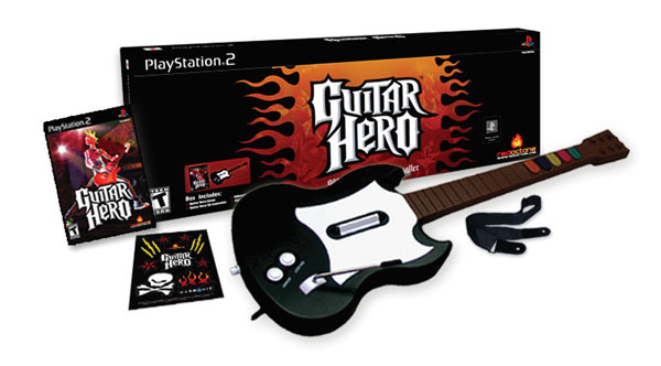 Guitar Hero (includes guitar) for PlayStation 2