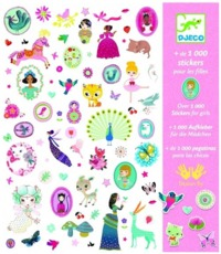Djeco: Design - 1000 Stickers For Girls