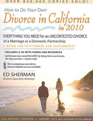 How to Do Your Own Divorce in California in 2010 by Ed Sherman image
