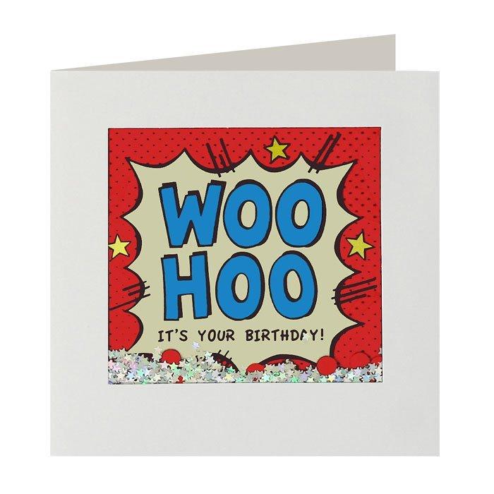 Woohoo Birthday Shakies Card image