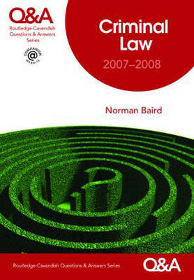 Criminal Law Q&A by Norman Baird image