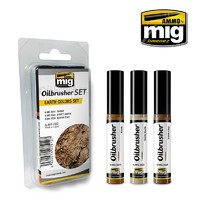 Ammo of Mig Jimenez: Oil Brusher Set: Earth Colours Set