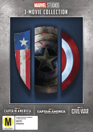 Captain America: 3 Movie Collection on DVD