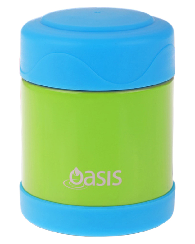Oasis: Kid's Stainless Steel Insulated Food Flask - Green/Blue (300ml)