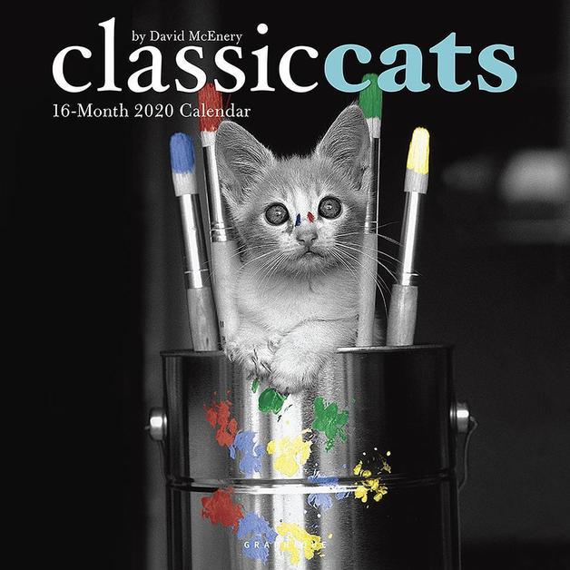 Classic Cats 2020 Square Wall Calendar
