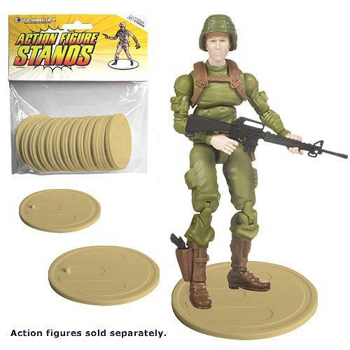 Action Figure Stands - Tan (25-Pack)