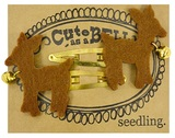 Seedling: Cute as a Bell Felt Hair Clips - Deer