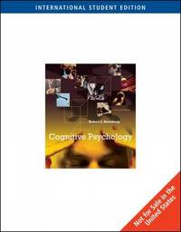 Cognitive Psychology by Robert Sternberg image