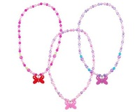 Pink Poppy: Butterfly Frosted Bead Necklace - (Assorted Designs)