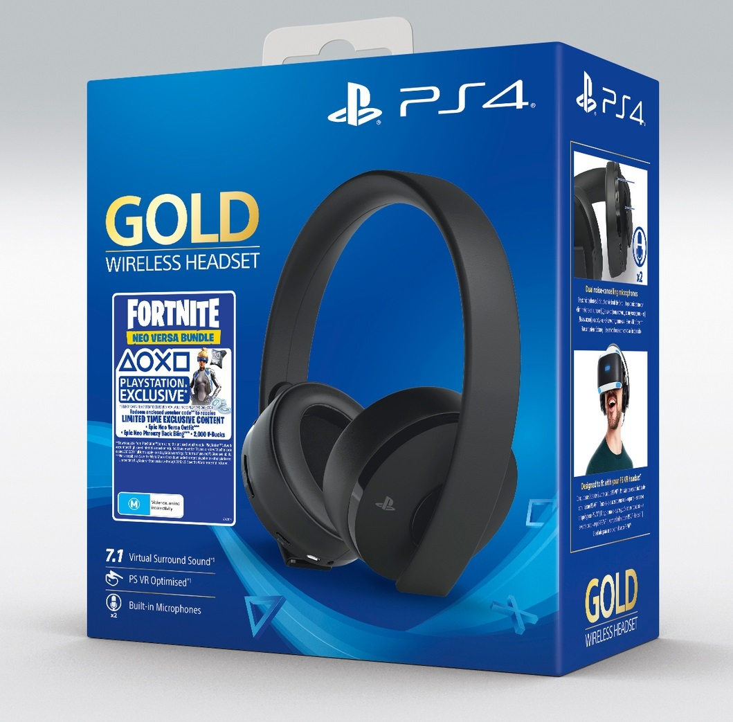 PlayStation Gold Wireless 7.1 Gaming Headset - Fortnite for PS4 image
