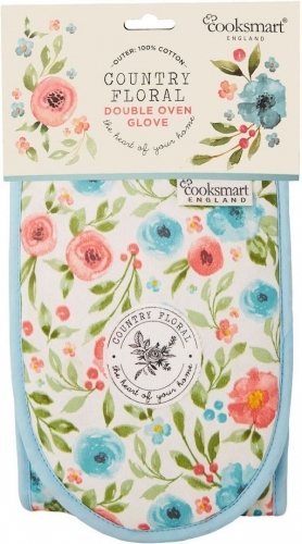 Cooksmart: Country Floral - Insulated Double Oven Gloves