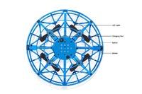 Mini LED RC Levitating Stunt UFO Drone - Blue