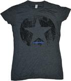 Entourage Distressed Star Charcoal Women's T-Shirt (Large)