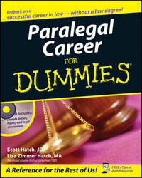 Paralegal Career For Dummies by Scott A Hatch