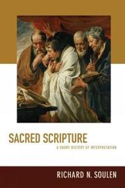 Sacred Scripture by Richard N. Soulen image