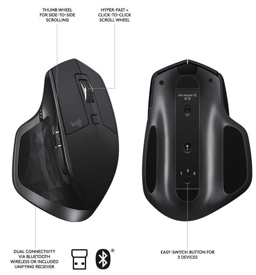 Logitech MX Master 2S Bluetooth & Wireless Mouse image