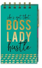 Lady Jayne: Spiral Bound Notepad - Boss Lady
