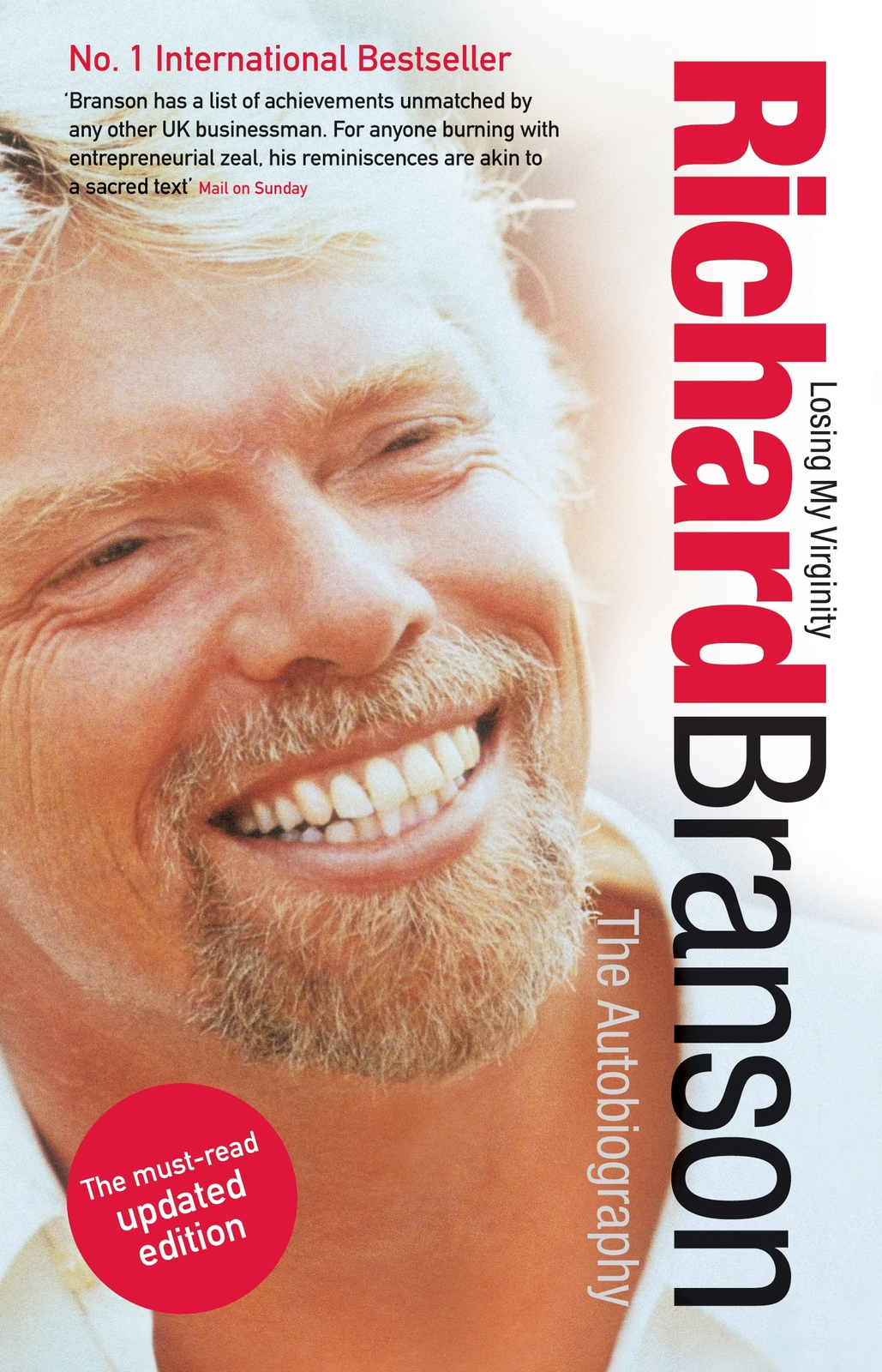 Losing My Virginity : The Autobiography (white cover) by Richard Branson image