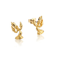 Disney Beauty and the Beast Lumiere Studs - Gold